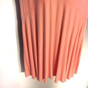 New York & Company Dresses - NY & Company Pink & Coral Fit and Flare Dress